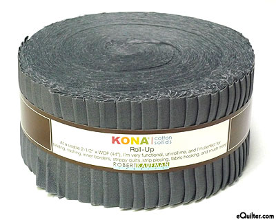 "Kona Cotton Solids - Coal Gray - 2 1/2"" Strips"