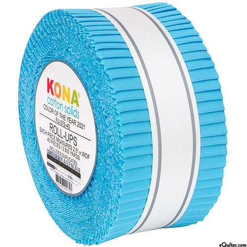 "2021 Kona Color of the Year - Horizon Blue - 2 1/2"" Strips"