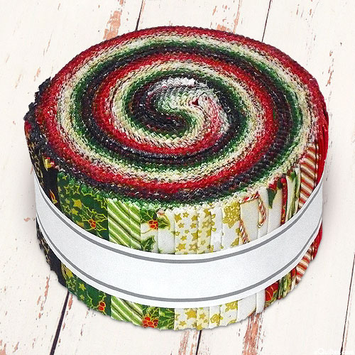"""Holiday Charms - Red, Green & Gold - 2 1/2"""" Strips"""