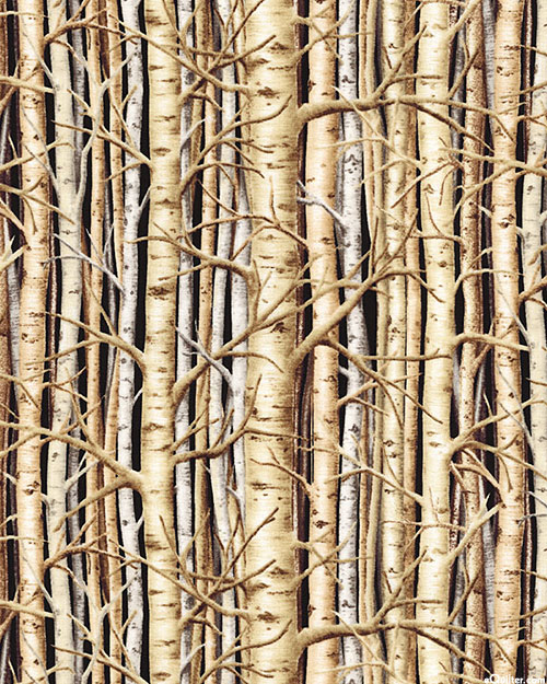 Last Frontier - Aspen Thicket - Taupe - DIGITAL PRINT