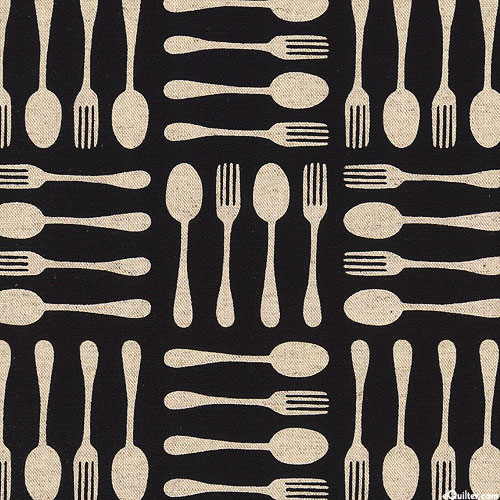 Japanese Import - Cutlery Collections - Black - COTTON/LINEN