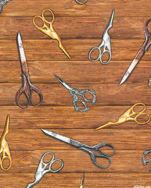 Sewing Emporium - Vintage Scissors - Walnut Brown