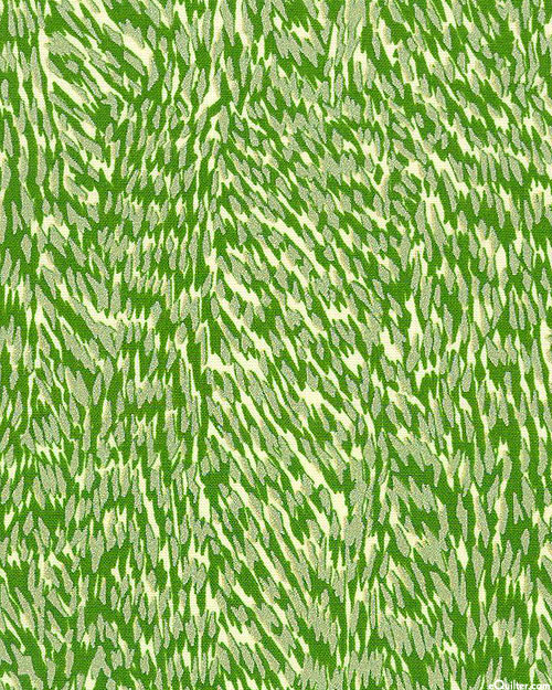 Spring Shimmer - Feathered - Basil Green/Pearl