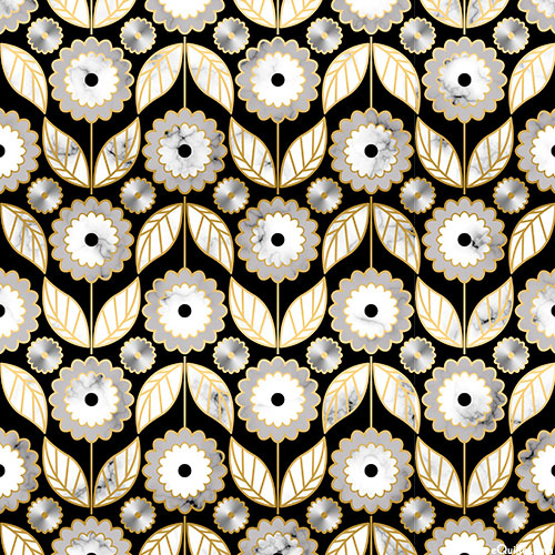 Silverstone - Daisy Rows - Black/Gold