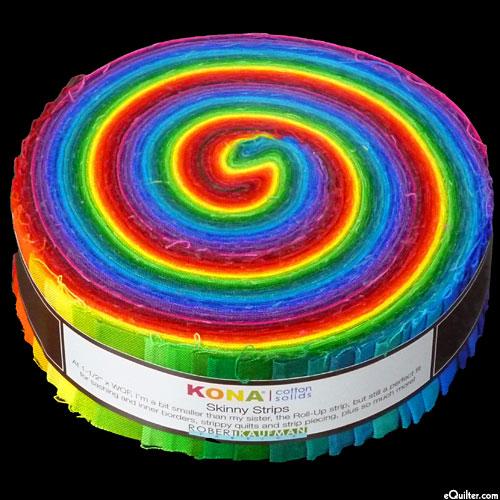 "Kona Cotton Skinny Strips - Dark Palette - 1 1/2"" Strips"