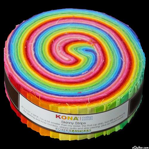 "Kona Cotton Skinny Strips - Bright Palette - 1 1/2"" Strips"