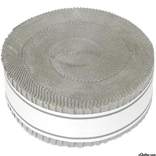 """Kona Cotton Skinny Strips - Ash Gray - 1 1/2"""" Strips"""