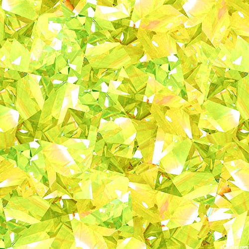 Birthstones - Shattered Facets - Peridot Green