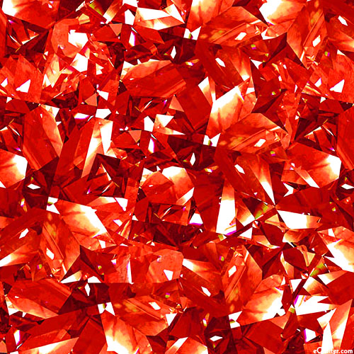 Birthstones - Shattered Facets - Ruby Red