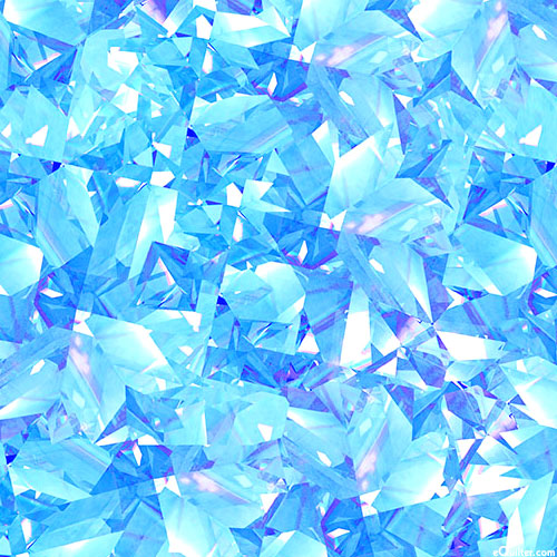 Birthstones - Shattered Facets - Aquamarine Blue