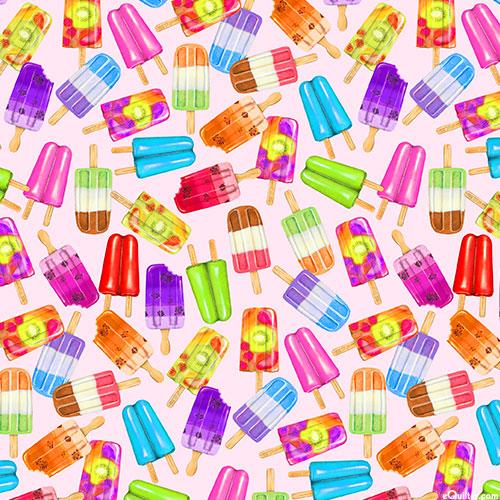 Sweet Tooth - Popsicle Toss - Lt Pink - DIGITAL PRINT