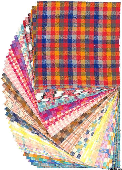 "Mammoth Junior - Yarn-Dyed FLANNEL - Warm - 10"" Squares"