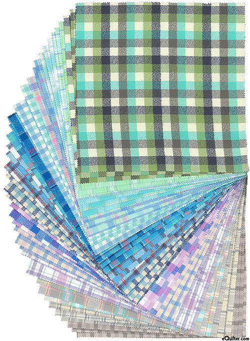 """Mammoth Junior - Yarn-Dyed FLANNEL - Cool - 10"""" Squares"""
