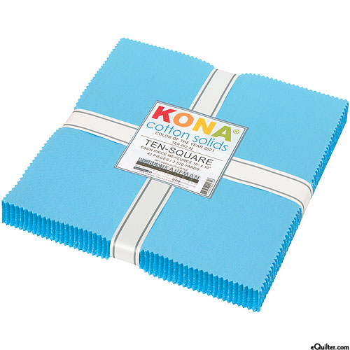 """2021 Kona Color of the Year - Horizon Blue - 10"""" Squares"""