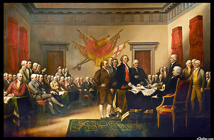 "Declaration of Independence - 24"" x 44"" PANEL - DIGITAL PRINT"
