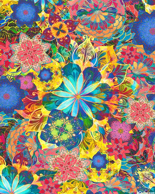 Venice - Glass Flower Mosaic - Multi - COTTON LAWN