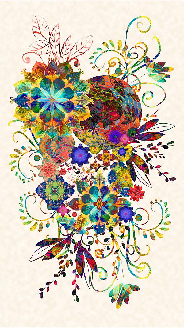 """Venice - Carnival Bouquet - Multi - 24"""" x 44"""" PANEL - DIGITAL"""