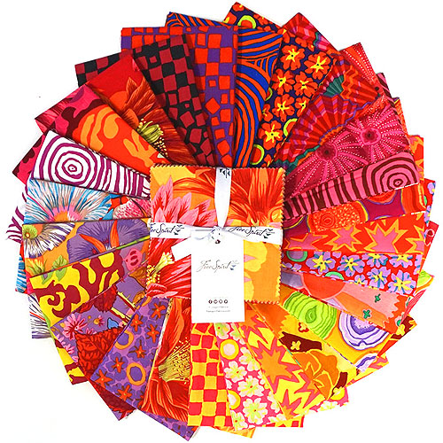 """Kaffe Fassett Collective Spring 2019 - Bright - 5"""" Charm Pack"""