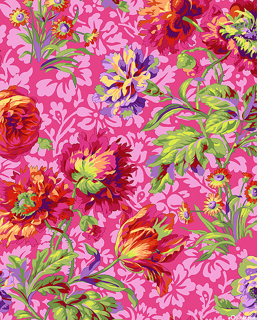 Kaffe Collective - Baroque Floral - Hot Pink