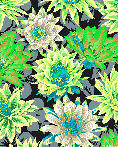 Kaffe Collective - Cactus Flower - Lime Green