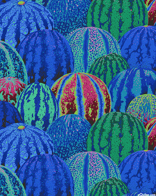 Kaffe Collective - Watermelons - Cobalt Blue
