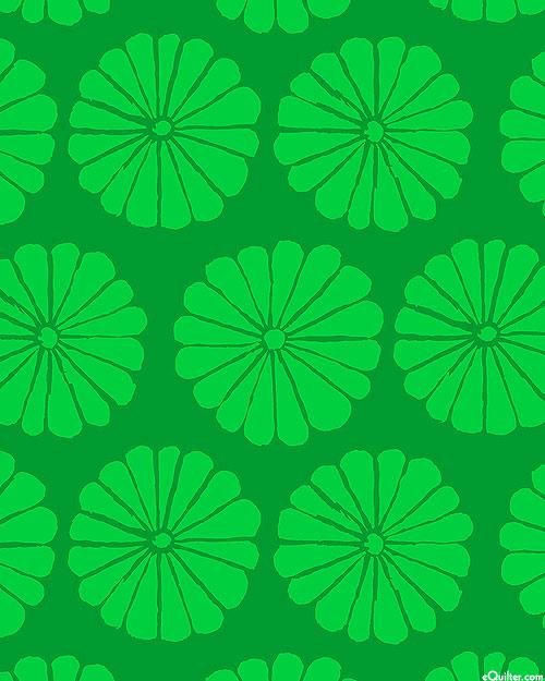 Kaffe Collective - Damask Flower - Emerald Green