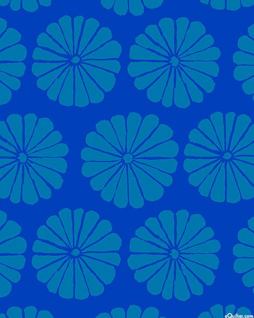 Kaffe Collective - Damask Flower - Royal Blue