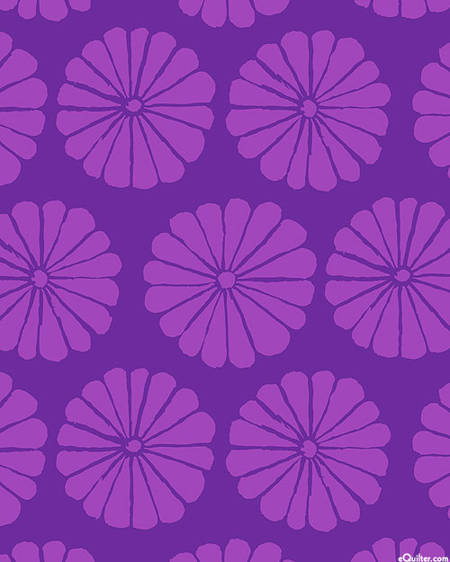 Kaffe Collective - Damask Flower - Amethyst Purple