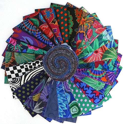 "Kaffe Fassett Collective Spring 2019 - Dark - 2 1/2"" Strips"