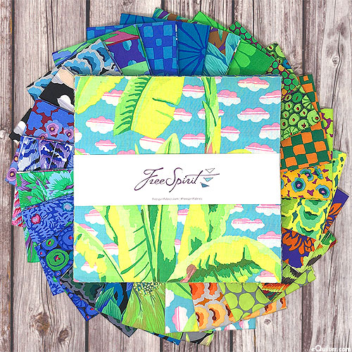 """Kaffe Fassett Collective Feb 2021 - Cool - 10"""" Squares"""
