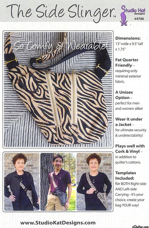 The Side Slinger - Bag Pattern by Studio Kat Designs
