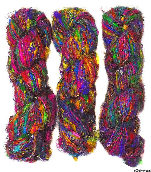 Silk Sari Handspun YARN