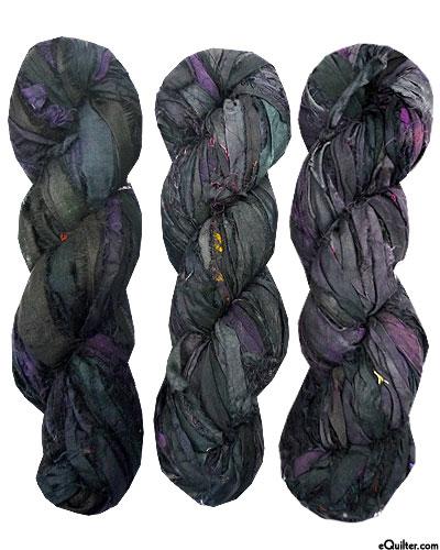 Silk Sari Ribbon - Inkwell Black