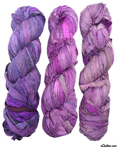 Silk Sari Ribbon - Purple Mist