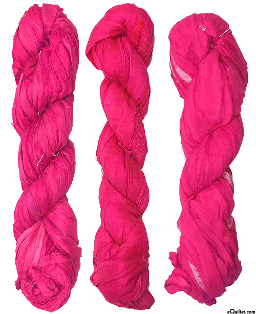Silk Sari Ribbon - Hot Pink