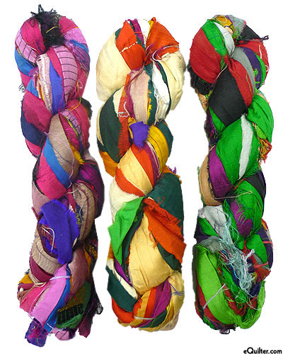 Silk Sari Ribbon - Carnival