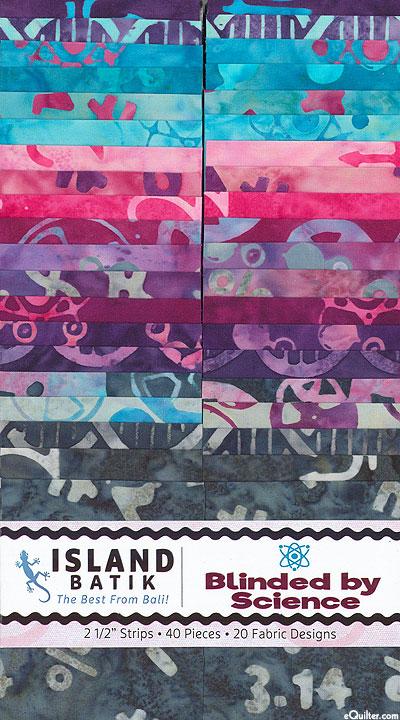 "Island Batik - Blinded by Science - 2 1/2"" Strips"