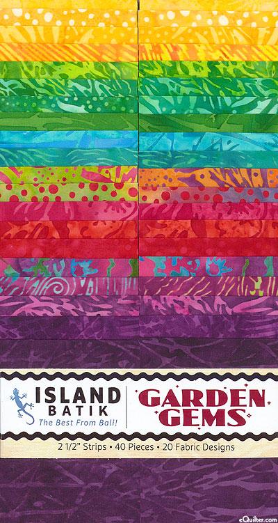 """Island Batik - Garden Gems - 2 1/2"""" Strips"""