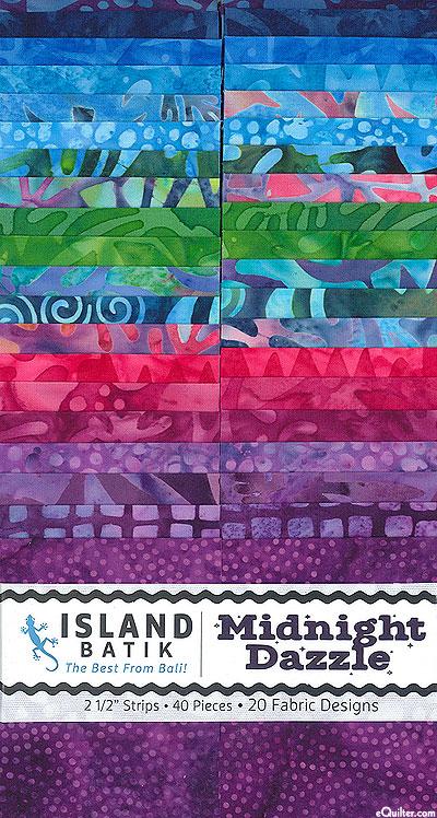 "Island Batik - Midnight Dazzle - 2 1/2"" Strips"