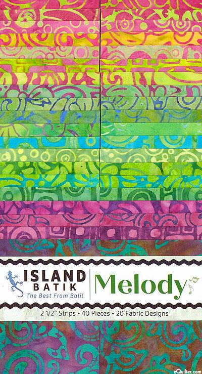 """Island Batik - Melody - 2 1/2"""" Strips"""
