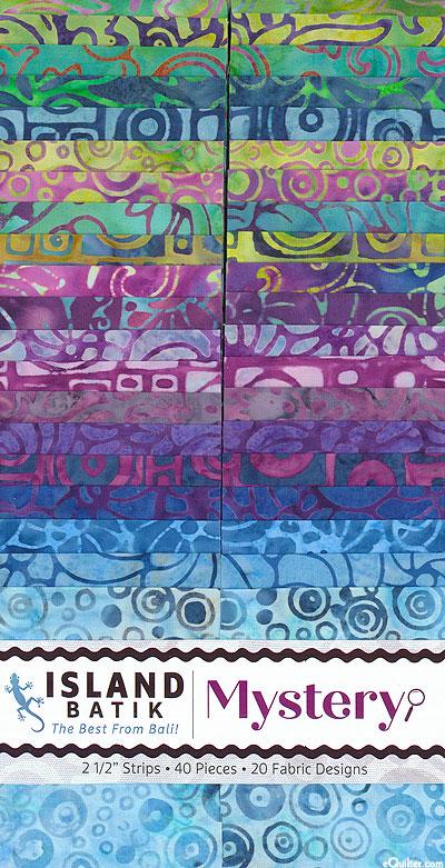 "Island Batik - Mystery - 2 1/2"" Strips"