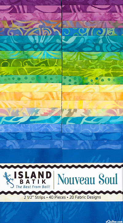 """Island Batik - Nouveau Soul - 2 1/2"""" Strips"""