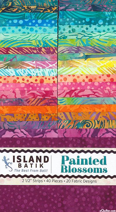 "Island Batik - Painted Blossoms - 2 1/2"" Strips"
