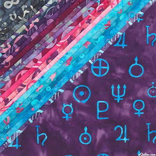 "Island Batik - Blinded by Science - 10"" Squares"