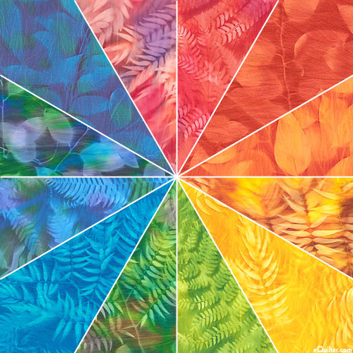 South African Leaf Sun Prints - Pre-Cut Rainbow Packet