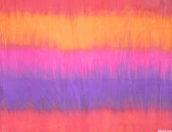 """Sunset Striped African Hand-Dye - Tropical Punch - 60"""" WIDE"""