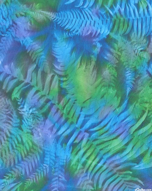 "Leaf Impression Sun Cloth - Tide Pool - 60"" WIDE"