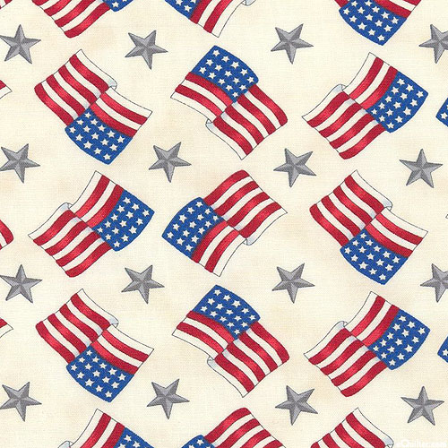 America the Beautiful - Flag Round About - Ivory