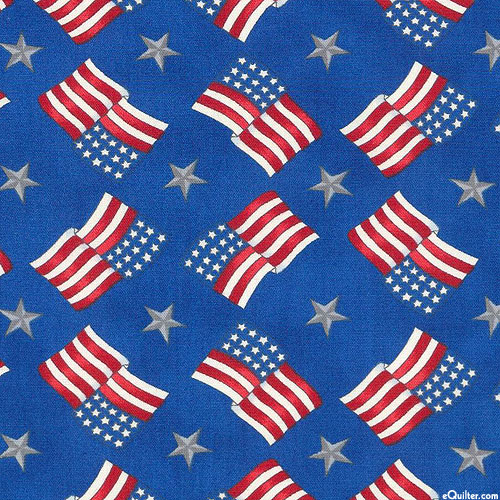 America the Beautiful - Flag Round About - Royal Blue
