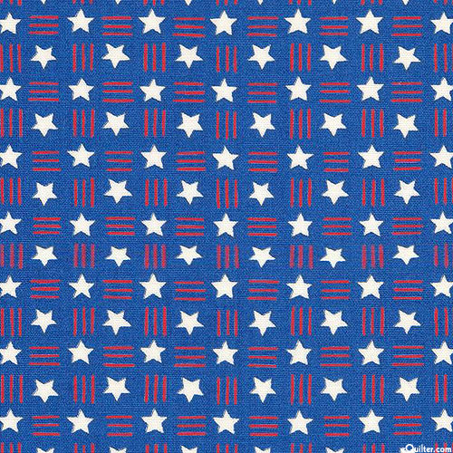 America the Beautiful - Stars & Dashes - Royal Blue
